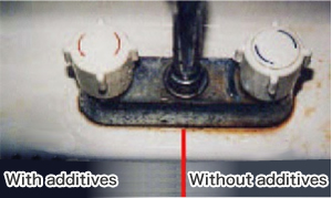 Water faucet area