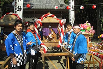 岐阜工場:住吉神社祭りに参加