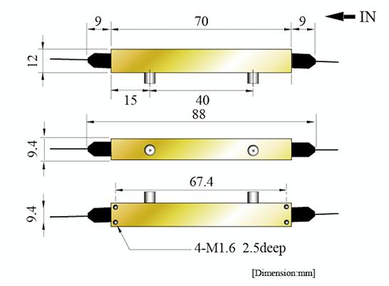 5Gbit/s LN位相変調器